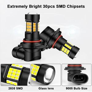 Image 2 - H11 LED Đèn Sương Mù Màu Vàng Trắng 9006/HB4 9005/HB3 Xe Ô Tô Bóng Đèn Đèn H8 H9 Sương Mù Tự Động 12V 36W 6000K 3000K HLXG
