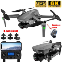 Dron plegable con GPS, 5G, WiFi, FPV, 6K, 3 ejes, cardán, cámara Dual, Motor Profesional sin escobillas, RC