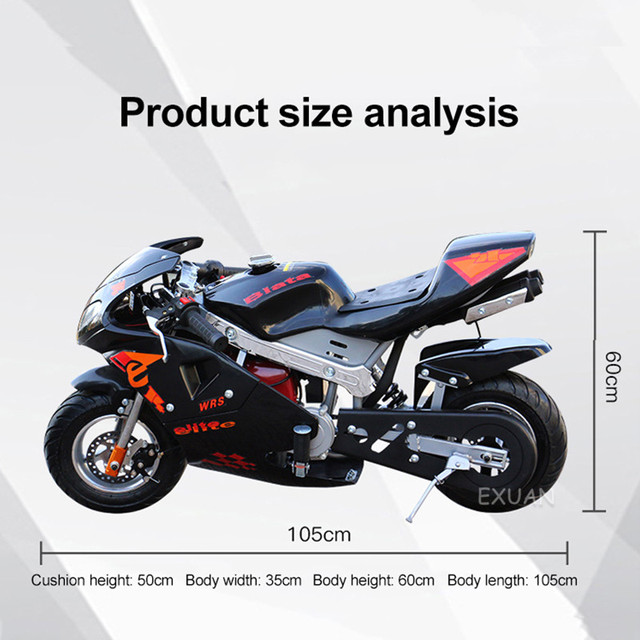 Disc Brake Race Small Sports Car Small Car 2020 Double Headlight Type Four Stroke Mini Motorcycle Pure Gasoline 49cc 5