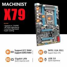 آلة اللوحة الأم X79 LGA2011 LGA 2011 ATX USB3.0 SATA3 PCI-E NVME M.2 SSD دعم DDR3 REG ECC ذاكرة Xeon E5 V3 المعالج