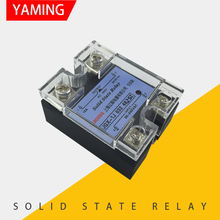 JGX-1J 032 4825Z Single-phase Solid State Relay With Protective Cover AC Control AC 25A meigeer 100a ssr 100da three phase solid state relay jgx 032 mgr 3 032 38100z
