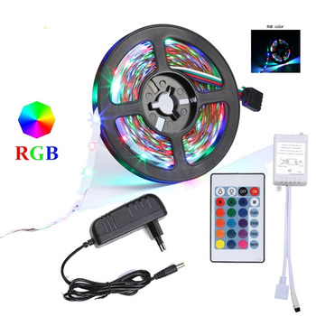 RGB LED Strip 5050 DC 12V 5m 10m 15m 20M Bluetooth Flexible Diode Tape Ribbon Fita Tira LED Light Strips With Remote + Adapter f image