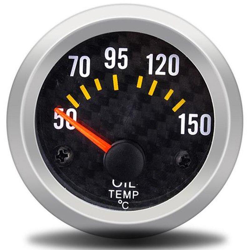 Uniwersalny 12V miernik temperatury oleju 52mm wskaźniki wskaźnik temperatury oleju temp instrument z oleju czujnik temperatury tuning samochodu wyścigi samochodowe