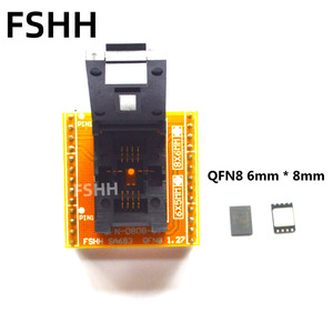 Image 2 - QFN8 to DIP8 Programmer Adapter WSON8 DFN8 MLF8 to DIP8 socket for 25xxx 6x8mm Pitch=1.27mm