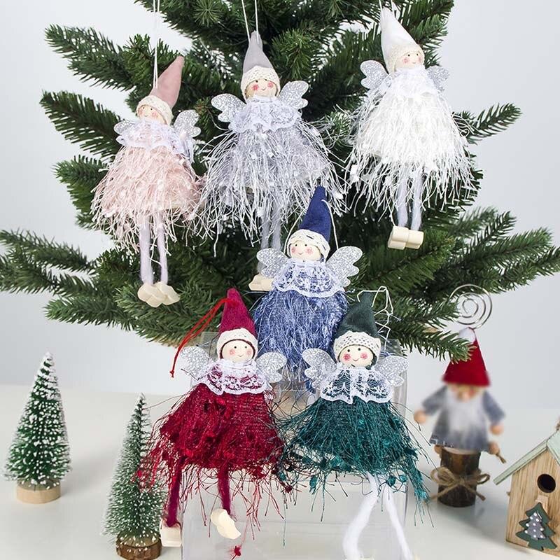 1 шт. милый плюшевый Ангел кукла кулон Рождественская елка украшение окна висячие украшения для детей новый год Рождество креативный подарок Кулоны и подвески      АлиЭкспресс