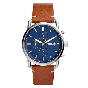 Fossil Men's Commuter Chronograph Watch with Light Brown Leather Watch Men Quartz Wrist Watch FS5401