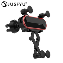 купить Universal Car Phone Gravity Stand Car Air Vent Mount 360 Degree Rotation for iPhone Bracket Outlet Clip Phone Holder for Samsung дешево