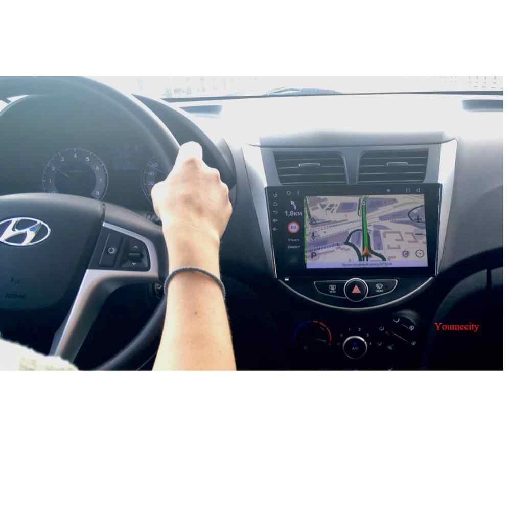 Reproductor de DVD del coche para Hyundai Solaris 2011, 2012, 2014, 2015, 2016 radio reproductor de Video wifi IPS 32GROM Octa core Android 8,1 2DIN