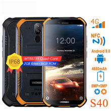 DOOGEE S40 sieci 4G wytrzymały telefon komórkowy 5.5 cal IP68/IP69K 3GB RAM 32GB ROM 9.0MT6739 czterordzeniowy 8.0MP smartfon