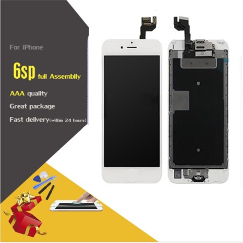 For iPhone 6S Plus LCD Full Assembly With Camera Home Button Touch Screen Display Replacement Completed image