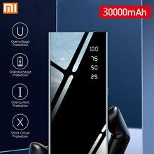 Xiao mi бренд 30000 мАч Внешний аккумулятор полный экран mi rror внешний аккумулятор портативное зарядное устройство для мобильного телефона для Xiaomi mi IPhone