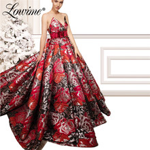Floral Pattern Evening Dresses Vestido De Festa Dubai Turkish Aibye Party Dress With Belt Prom Gowns Abendkleider Formal Kaftans