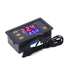 Termostato digital de controle de temperatura, w3230 12v 24v AC110-220V sonda linha 20a visor led com controle de calor/refrigeração instrumento com instrumento