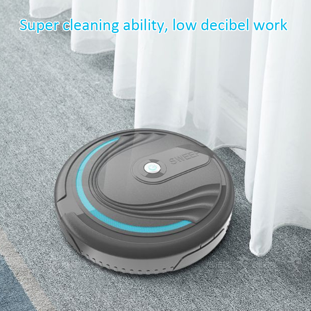HOT Robotic Vacuum Cleaner For Home Full Automatic Mini Vacuuming Robot Household Appliances Charging Sweeper USB Charging Cable