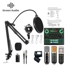 GAX-V9 BM800 mikser Bluetooth mikrofon kondensujący karta dźwiękowa transmisja na żywo nagrywanie USB 3.5mm komputer PC telefon komórkowy