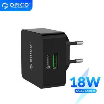 ORICO QC2.0/QC3.0 18W cargador rápido cargador de la pared del USB para Samsung S5 S6 LG G4 Xiaomi con Cable Micro USB