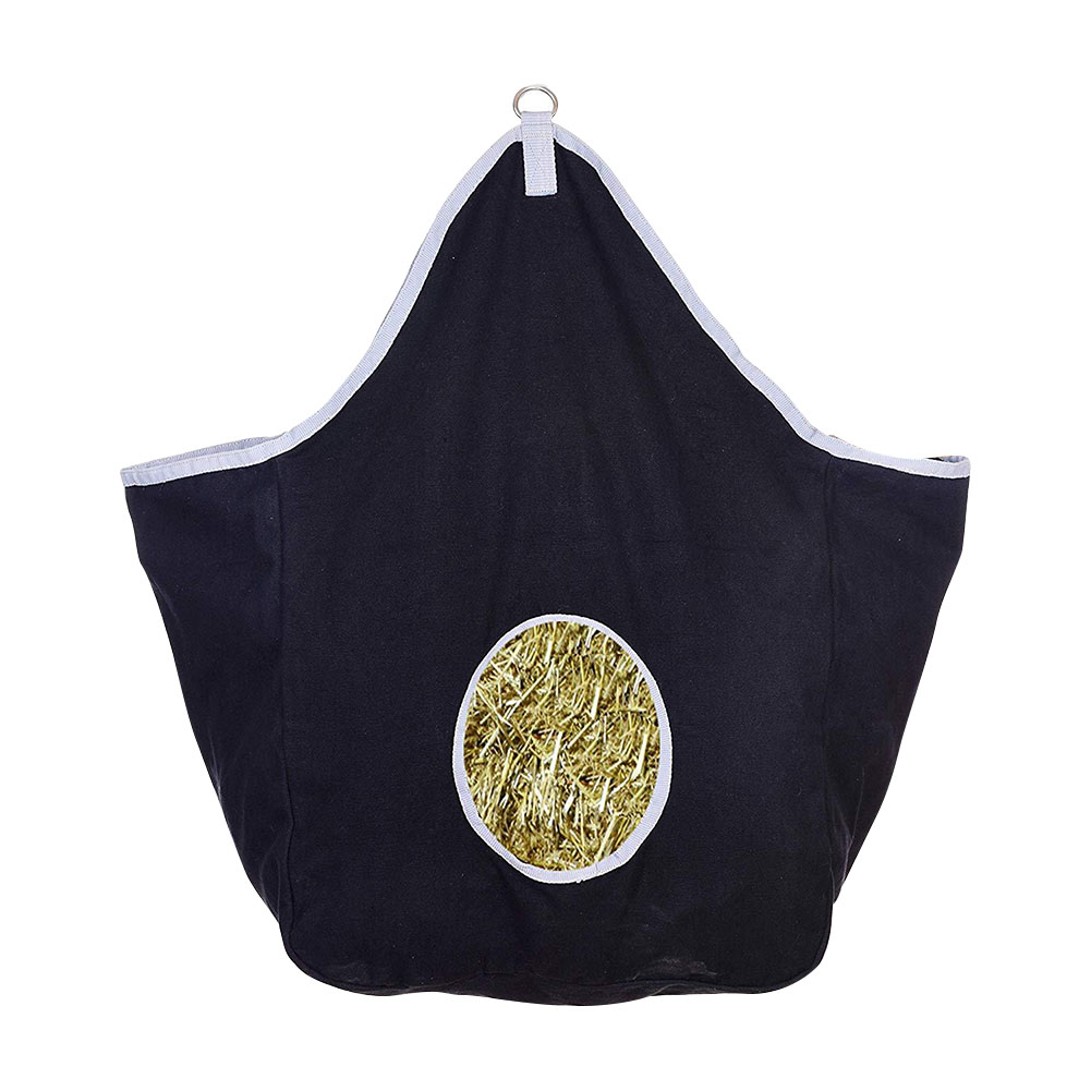 Feeder Pouch Hay Bag Canvas Storage Large Capacity Farm Wear Resistant Horse Cut Out Hole Slow Feed Portable Hanging Outdoor