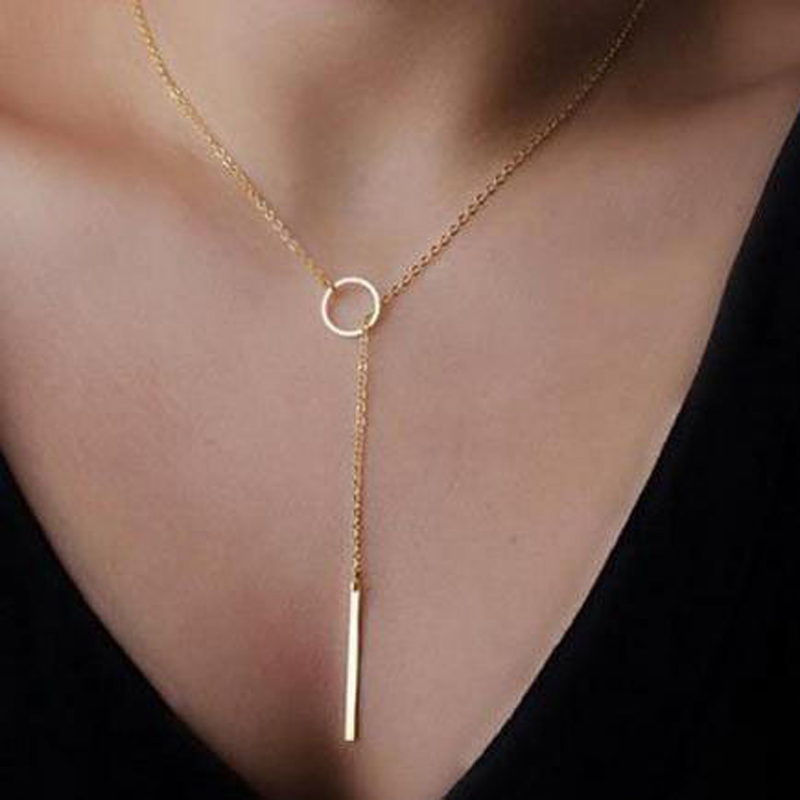 2021 NEW Europe and the United States minimalist simple metal short necklace Gifts