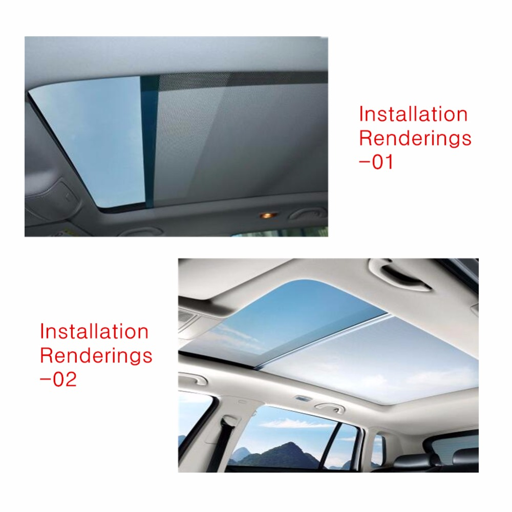 Black Skylight shutter Sunroof sunshade curtain For Audi Q5 for VW Sharan New style Tiguan 1K9877307A 5ND877307 in Sun Visors from Automobiles Motorcycles
