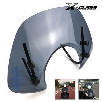 X-CLASS Motorcycle Clear Windscreen Front Windshield Spoiler Air Deflector For VESPA GTS 250 300 Reduce Wind Speed Airflow universal motorcycle windshield airflow adjustable windscreen extension deflector windshield spoiler small