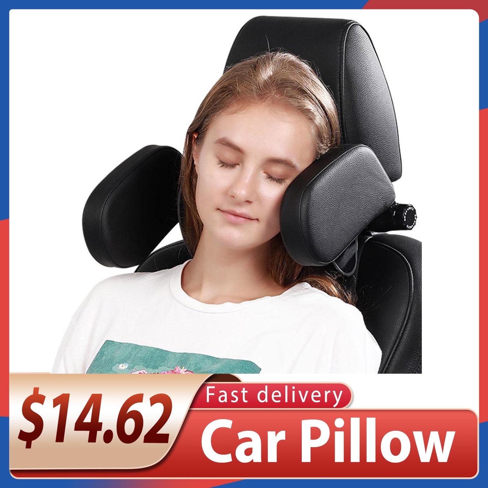 Автомобильная подушка под шею, U-образное мягкое автомобильное кресло, подголовник, массажная защита, дорожная подушка для сна для детей и в...