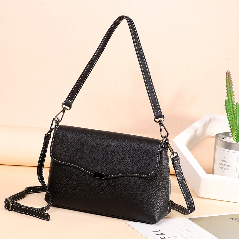 Bag 2019 New Style Korean-style-Style Fashion WOMEN'S Leather Bags Women's Cowhide Leather Single-shoulder Bag Shoulder Bag a Ge