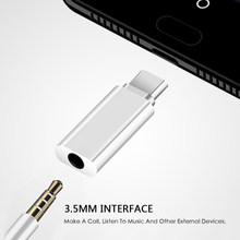 1pc 2 colors Type C USB C To 3.5mm Audio Adapter for External Microphone for Osmo Pocket External Sound Card Converter(China)