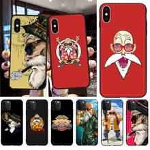 CUTEWANAN Sennin el maestro Roshi, maestro Kame teléfono caso Capa para iPhone 11 pro XS MAX 8 7 6 6S Plus X 5S SE 2020 XR caso