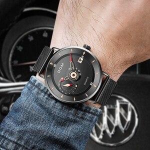 Image 3 - DOM Herren Uhren Zu Luxus Marke Männer Stahl Sport Uhren herren Quarz Schwarz Uhr Wasserdicht Militär Uhr Uhr M 1299BK 1M
