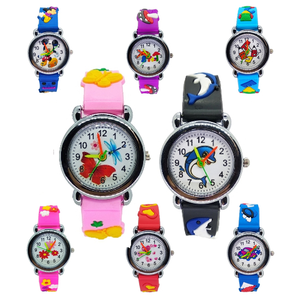 9 Style Animal Team Children Watch Cartoon Baby Watch Casual Sports Clock Quartz Kids Watches For Boys Girls Kid Christmas Gift