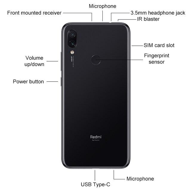 "In Stock Global ROM Xiaomi Redmi Note 7 6GB RAM 64GB ROM Smartphone Snapdragon 660 6.3"" Screen 48MP Rear Camera 4000mAh Battery 2"