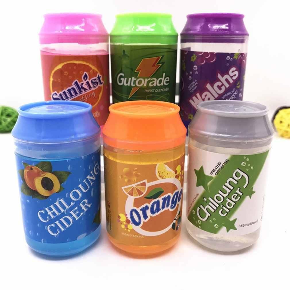Creative สามารถขวด DIY คริสตัลโคลนดินโคลน Jelly Slime ความเครียด Reliever ปลอดสารพิษปลอดภัยของเล่นเด็ก