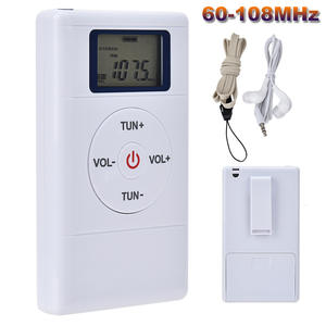 Radio-Receiver Fm-Radio Stereo Mini Portable Earphone DSP with Headset 60-108MHZ