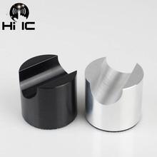 HiFi אודיו אלומיניום סגסוגת תיל סוגר תמיכת קו כבל stand מחזיק מתקפל נגד הלם בולם זעזועים רגל כרית רגליים רפידות