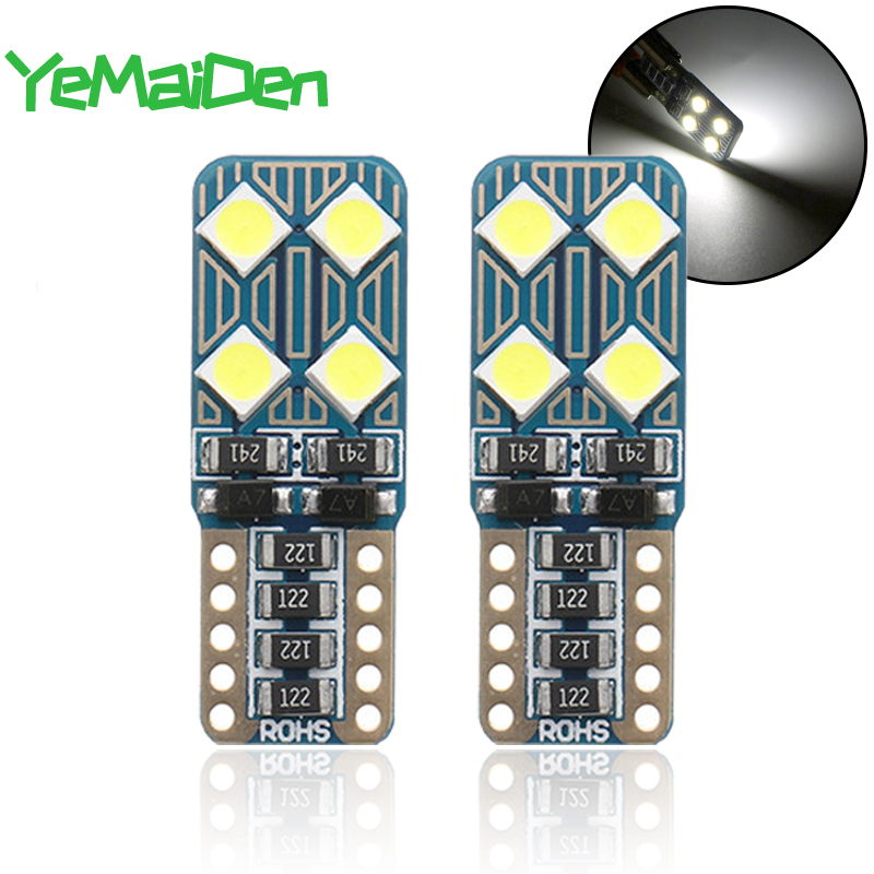 1x Car LED Bulb T10 W5W Interior LED Light Canbus No Error 12V 6500K White 3030 SMD Auto Door Wedge Side Clearance Lamp 194 5W5
