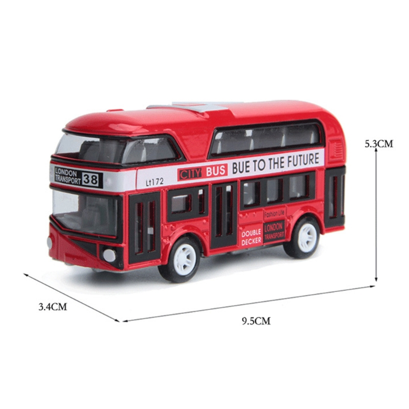 1:43 Car Model Double-decker London Bus Alloy Diecast Vehicle Toys For Kids Boys