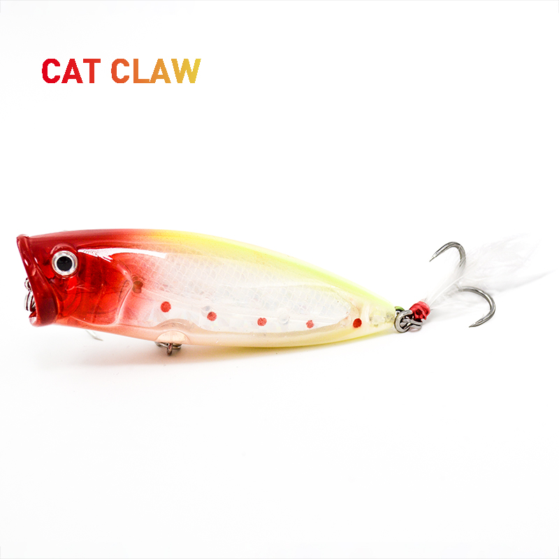 Cat Claw Fishing  Lure 101B Big Artificial Popper Lure Loud Sound 83mm 19g Fishing Bass 3D Eyes Bluefish Tuna Swing Carp Bait