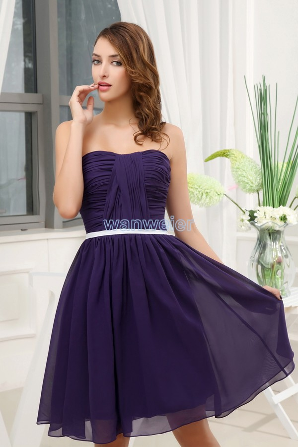 Free Shipping 2016 New Design Low Key Brides Maid Dress Hot Seller Formale Custom Size/color Short Dark Blue Bridesmaid Dresses