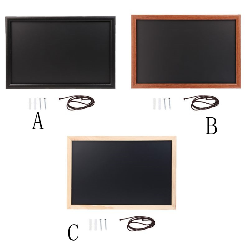 Rectangle Hanging Wooden Message Blackboard Chalkboard Wordpad Advertising Board