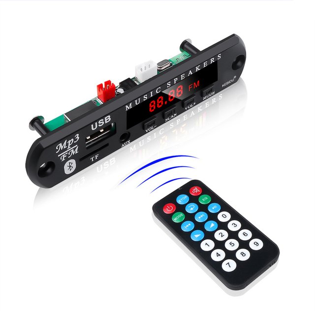 5V 12V MP3 WMA Decoder Board Audio Module USB TF Radio Bluetooth5.0 Wireless Music Car MP3 Player With Remote Control 3
