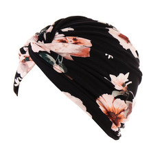 Turban en coton pour femmes musulmanes, couvre-chef élastique, couvre-chef, Turban pliant, écharpe, ruban pour cheveux noués en croix