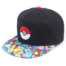 Аниме Покемон хип-хоп кепка мужская мультфильм аниме хип-хоп кепка s Мода Регулируемая вышивка хлопок Snapback бейсболка s для мужчин
