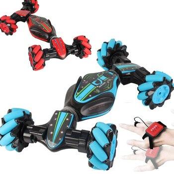 Stunt Gesture Remote Control twisting Car Off-Road Vehicle Drift Light Music Drift Dancing Double Side Driving Stunt gesto Car фото