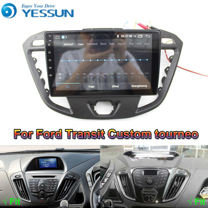 Untuk Ford Transit Kustom Tourneo Mobil Android Multimedia Player Mobil Radio GPS Navigasi Besar IPS Layar Cermin Link DSP Stereo