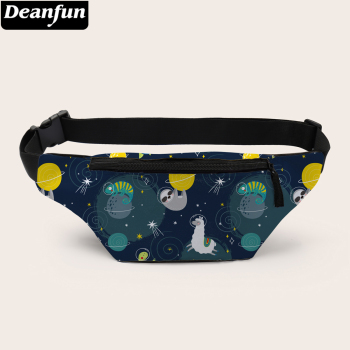Deanfun 3D Printed Fanny Pack Sloth Printed Waist Bag With Zipper Pouch Bag For Women D18003
