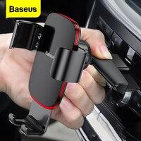 Baseus-Soporte de teléfono para coche con ranura para CD, montaje de gravedad para iPhone, Samsung, Xiaomi