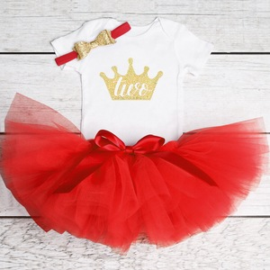 1 2 Year Old Baby Girls 2st Birthday Party Dress Baptism Costume Infant Princess Outfits 12M 24M Newborn Christening Puffy Gown
