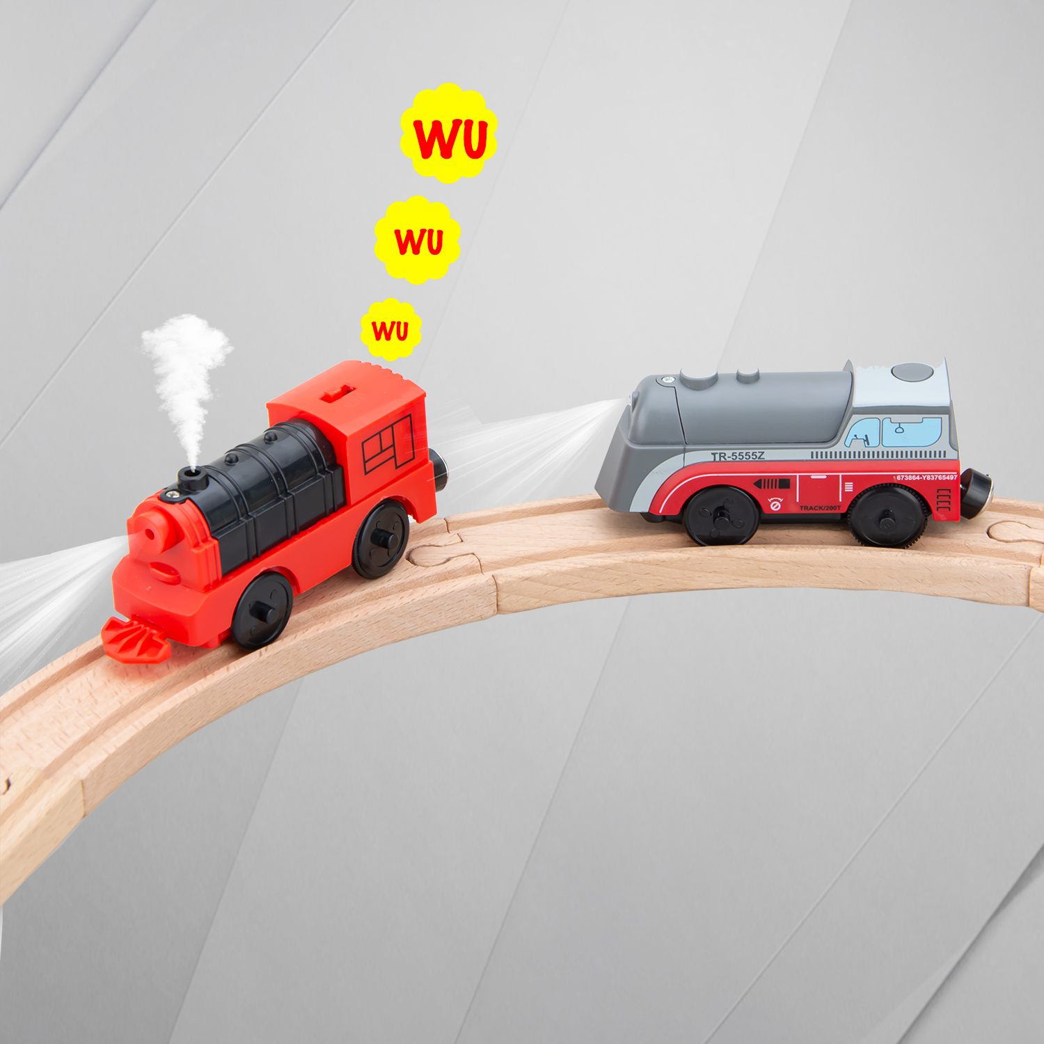 Powerful Electric Locomotive Train Set For Wooden Track Railway Compatible With BRIO And Main Brand Track Railway