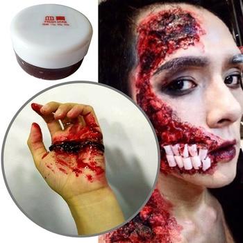 15g Halloween Cosplay simulación sangre Gel falso sangre cicatrices heridas maquillaje Plasma sangre crema cuerpo decoración cosmética herramienta