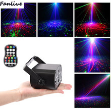 10pcs Disco Led light voice Control Music laser projector 60 patterns RGB stage lights effect lamp party Show with controller(China)